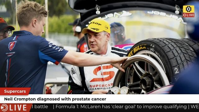 Supercars: Crompton diagnosed with prostate cancer