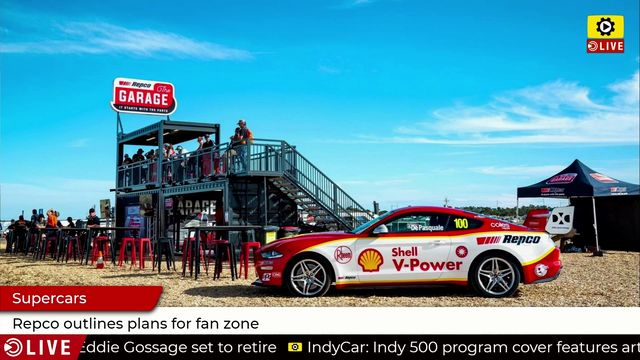 Supercars: Repco outlines plans for fan zone