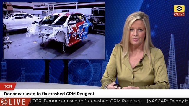 TCR: Donor car used to fix crashed GRM Peugeot