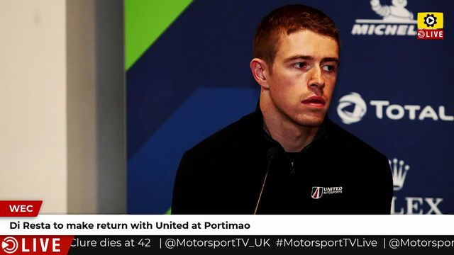 WEC: Di Resta to make return with United at Portimao