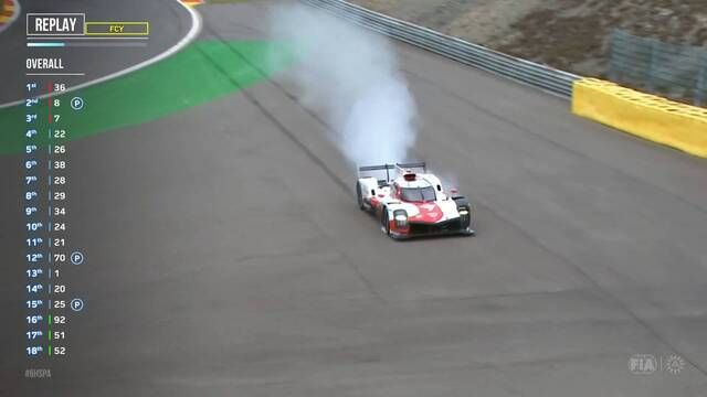 WEC: Spa race - Kobayashi in the gravel