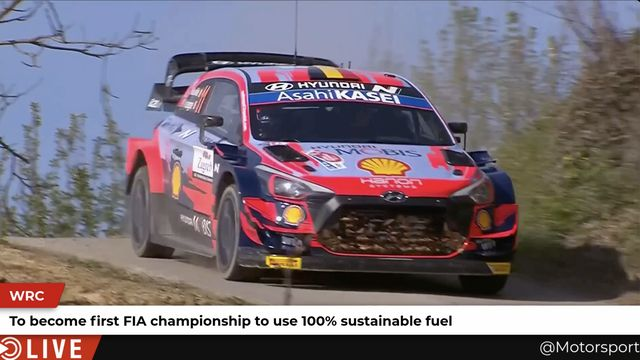 WRC: First FIA championship to use 100% sustainable fuel