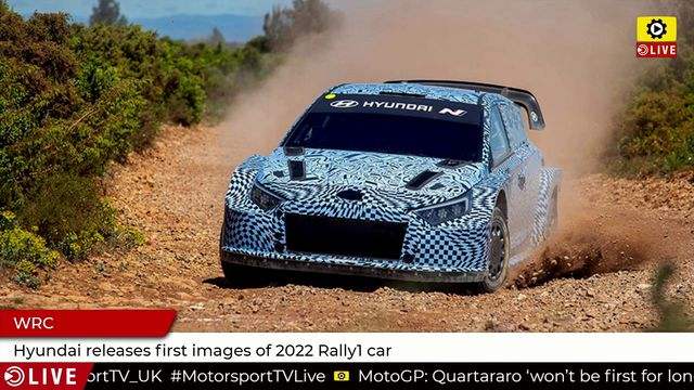 WRC: Hyundai releases first images of 2022 Rally1 car