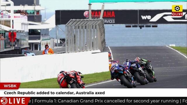 WSBK: Australia cancelled, Czech Republic added