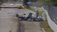 WSC 1990 - Montreal - Manhole cover causes crash
