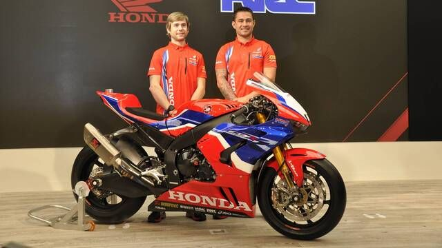 Behind the scenes at the Honda WSBK team launch
