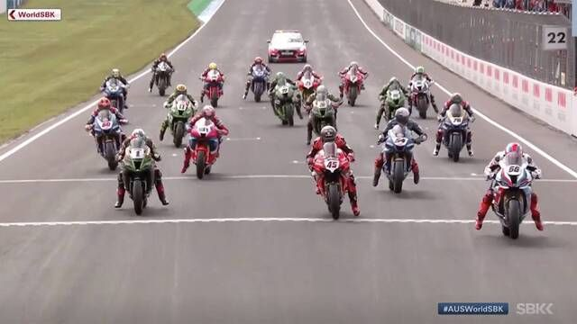 WSBK Phillip Island: Rennen 1, Highlights