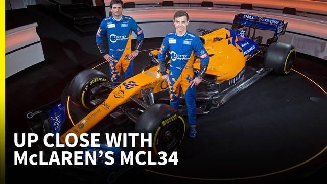 An up-close look at McLaren's 2019 MCL34 F1 car