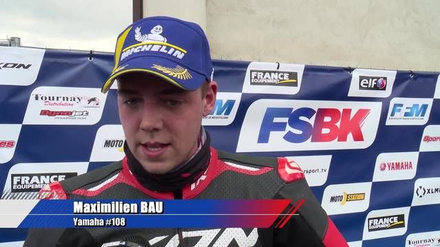 L'interview de Maximilien Bau, vainqueur en Supersport 600 !