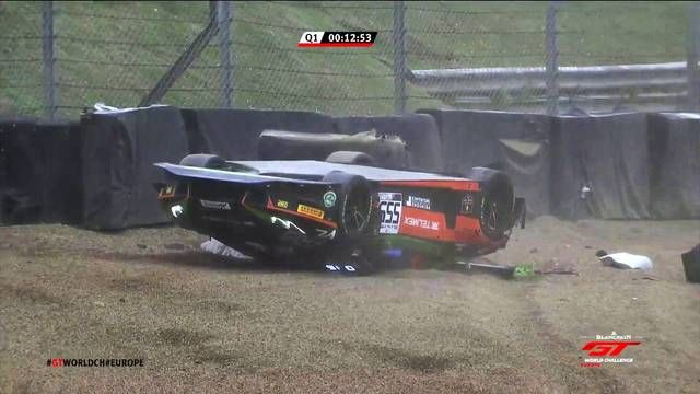 Diego Menchaca qualifying crash at Brands Hatch