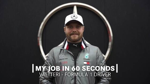 My Job in 60 Seconds | Valtteri Bottas - F1 Driver
