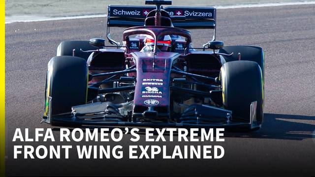 'The strangest 2019 front wing we've seen so far' - Alfa Romeo F1 technical analysis - Formula 1 Videos