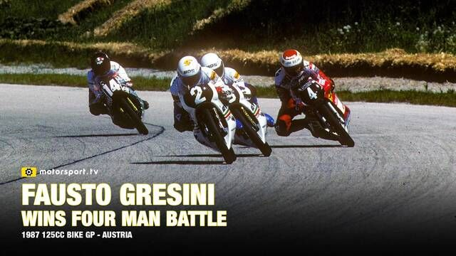 1987 Austrian Bike GP: Fausto Gresini wins 4 man battle