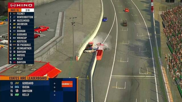 Lando Norris full Supercars pit crash
