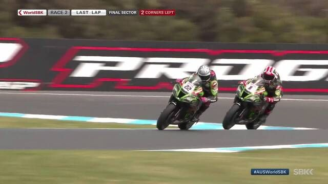 WorldSBK: el final de la Carrera 2 en Phillip Island