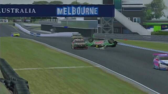 BP Supercars All Star Eseries: Rick Kelly flies during race 1