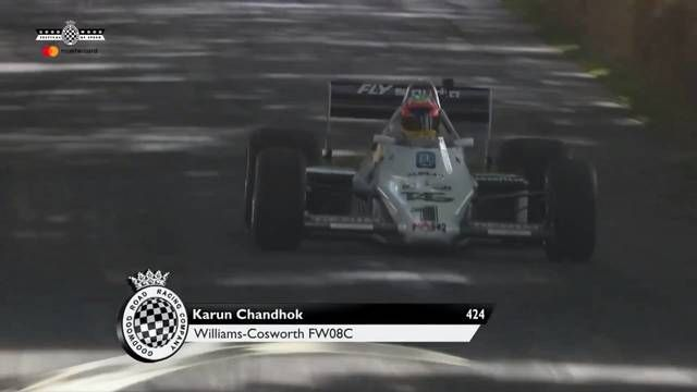 Goodwood FOS: Karun Chandhok in the Williams FW08C
