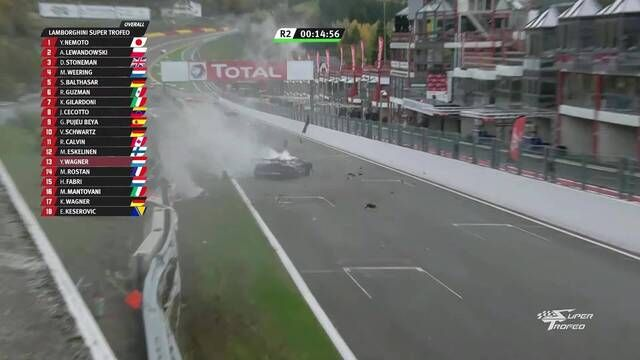 Lamborghini Super Trofeo en Spa-Francorchamps - Accidente