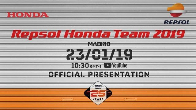 Live: Repsol Honda Team 2019. Official Presentation