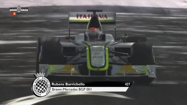Goodwood FOS: Barrichello met de Brawn GP de heuvel op