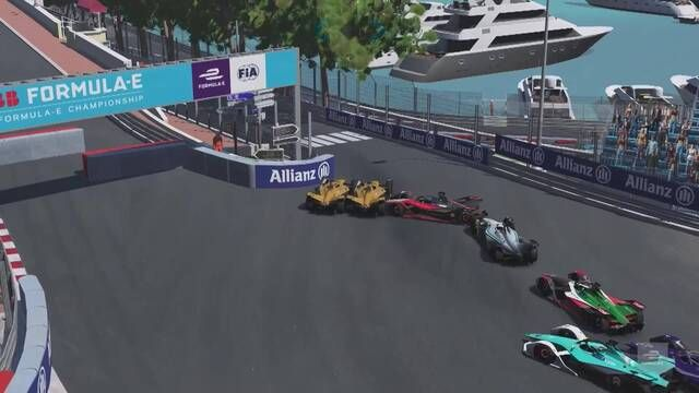 Formula E Race at Home Challenge Round 3: Monaco - Highlights