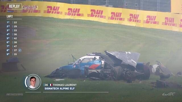 WEC 6 uur van Spa - Zware crash Laurent in Blanchimont