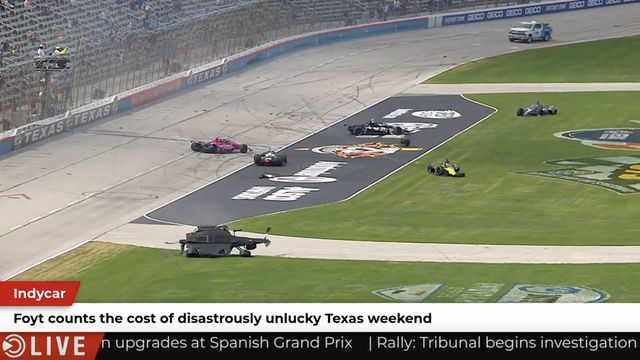 IndyCar: Foyt estimates the car damage in Texas