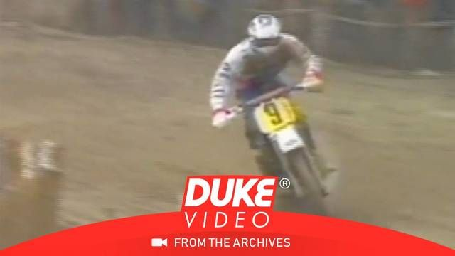 Honda vs Kawasaki vs KTM battle at Motocross France GP 1989