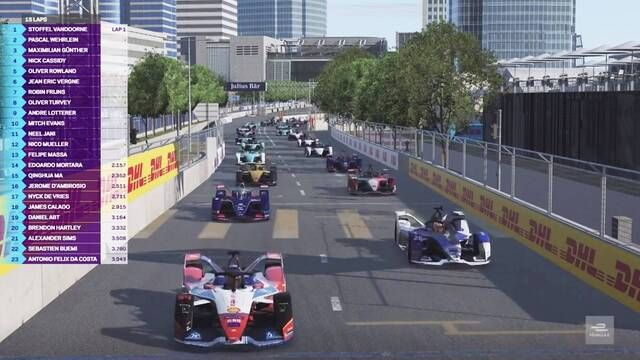 Formula E At Home Challenge Round 1 - Pro Race start