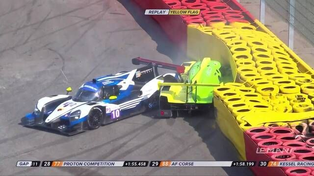 European Le Mans Series: 4 Hours of Spa-Francorchamps LMP3 crash