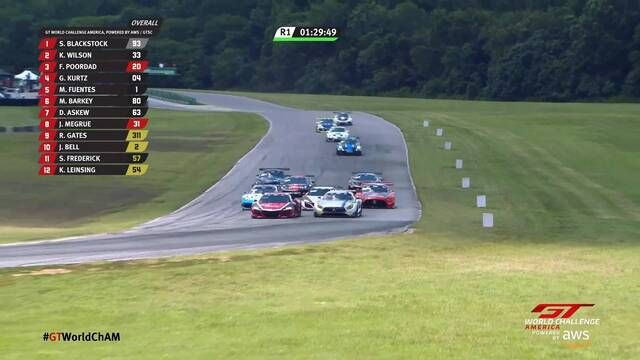 GT World Challenge America: VIR - Race 1 start