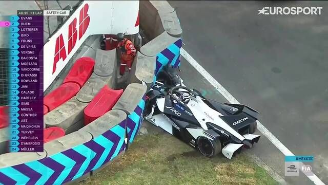 Mexico City E-Prix: Nico Müller's crash