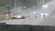 Rebellion's Thomas Laurent crashes in the wet
