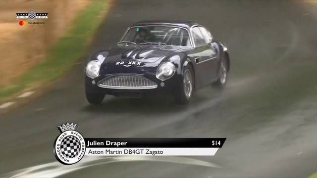Goodwood FOS: Julien Draper in the Aston Martin DB4GT Zagato