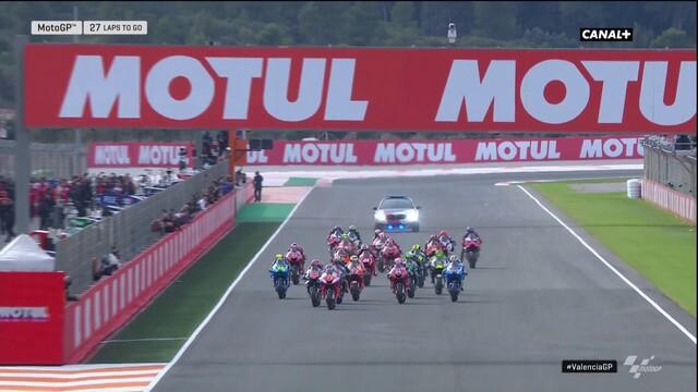 Le départ du Grand Prix de Valence - Vidéo MotoGP - Motorsport.com Suisse