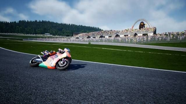 Uma volta no Red Bull Ring no game MotoGP 18