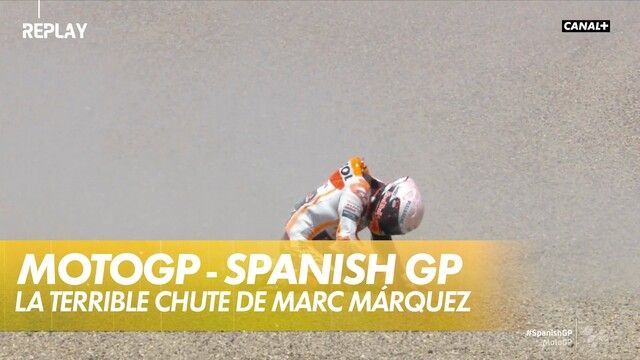 La terrible chute de Marc Márquez