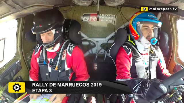 Fernando Alonso explica su accidente en el Rally de Marruecos