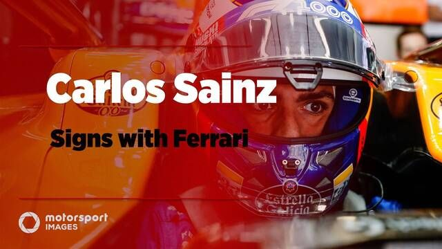 Carlos Sainz signs for Ferrari
