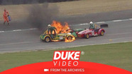 Caterham-Challenge: Feuerunfall in Brands Hatch