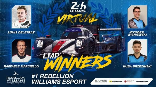 24 Horas de Le Mans virtual: Rebellion Williams Esports vence