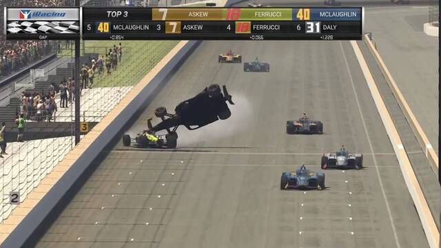 IndyCar iRacing Indianapolis: Wildes Finish