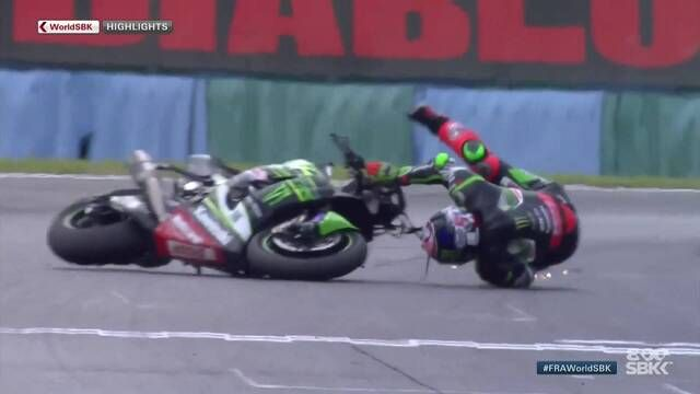 WorldSBK Magny-Cours: Race 1 highlights