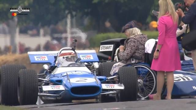 Goodwood FOS: Jackie Stewart dynamic moment