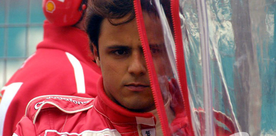 Massa learning at Ferrari university