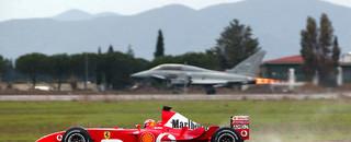 Formula 1 Schumacher beaten by fighter jet