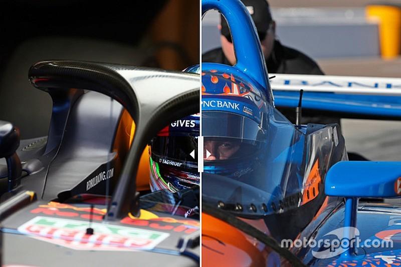 Наглядно: Halo в Формуле 1 против «аэроскрина» в IndyCar
