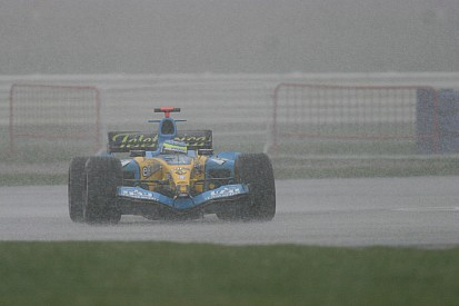 En 2005 también nevó en los test de F1 en Silverstone