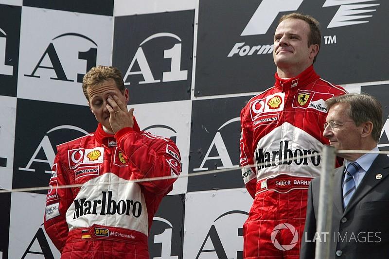 """Barrichello recordó el GP de Austria 2002: """"Vomité de rabia"""""""