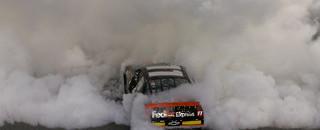 NASCAR Cup Rookie Hamlin wins Shootout